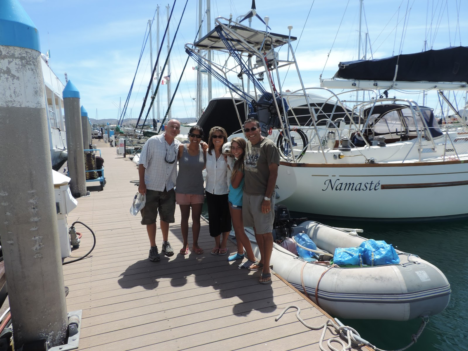 FAMILY OF THREE TAKE TO THE SEA