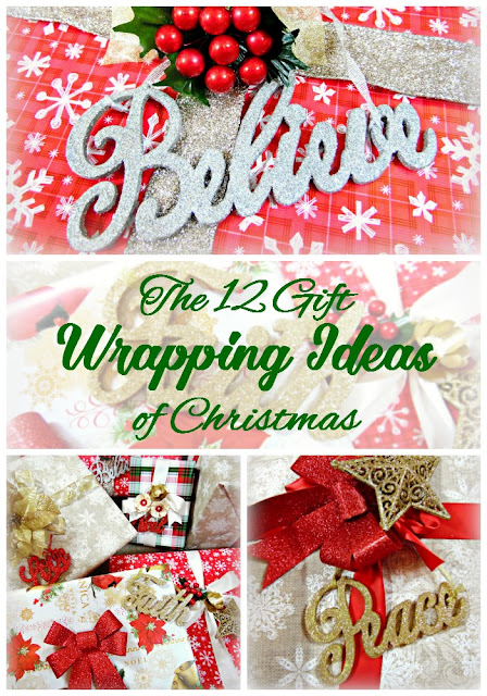 12 gift wrapping ideas for Christmas presents. #DIY