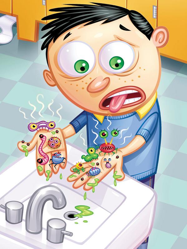 Cần phòng tránh các mầm bệnh trong sinh hoạt hàng ngày