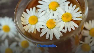 Chamomile The leaves of the chamomile tree have great relaxing and laxative effects for digestion problems and pains.