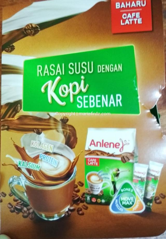 Anlene Cafe Latte, Susu dengan Perisa Kopi