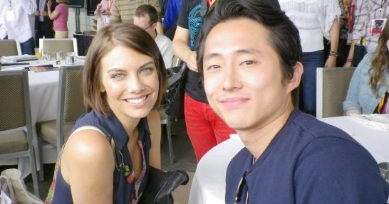 Did Steven Yeun married Lauren Cohan from The Walking Dead ...  |Steven Yeun And Lauren Cohan Engaged
