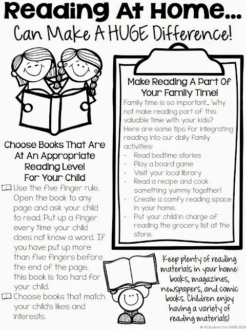 Provide your parents some simple ways to support their children at home in math and reading. They will love and appreciate you for it!