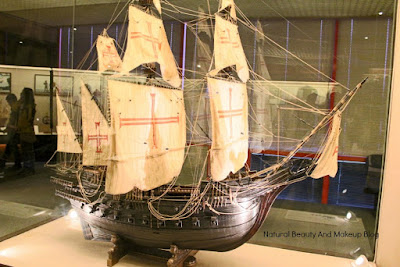 Model of sailing boat at Macau Maritime Museum