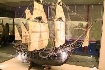 Model of sailing boat at Macau Maritime Museum