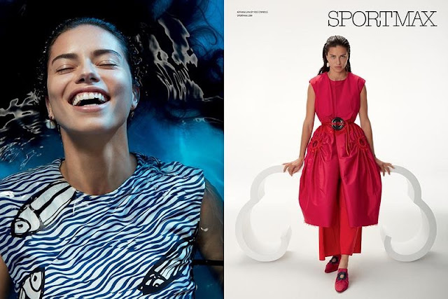 Adriana Lima stars in Sportmax's spring-summer 2017 campaign