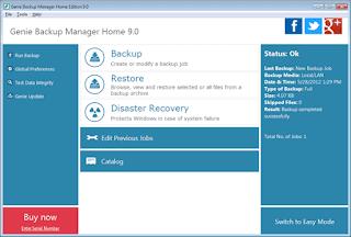 Genie Backup Manager Home 9.0 key, serial, lisans anahtarı, lisans kodu GBH9-0900B3BEAE9239DAAC