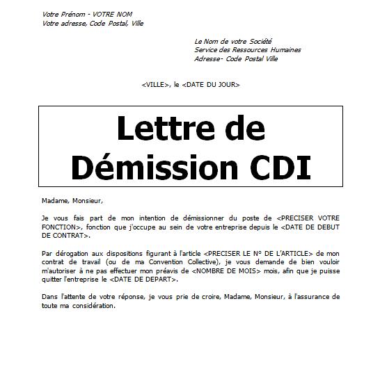 lettre de demission cdi chauffeur routier lettre demission sans preavis word doc | Cours génie civil  lettre de demission cdi chauffeur routier