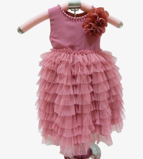 gambar model baju pesta anak