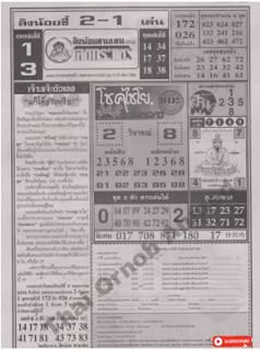 Thai Lottery 4pc First Magazine For 01 May perchance well 2019