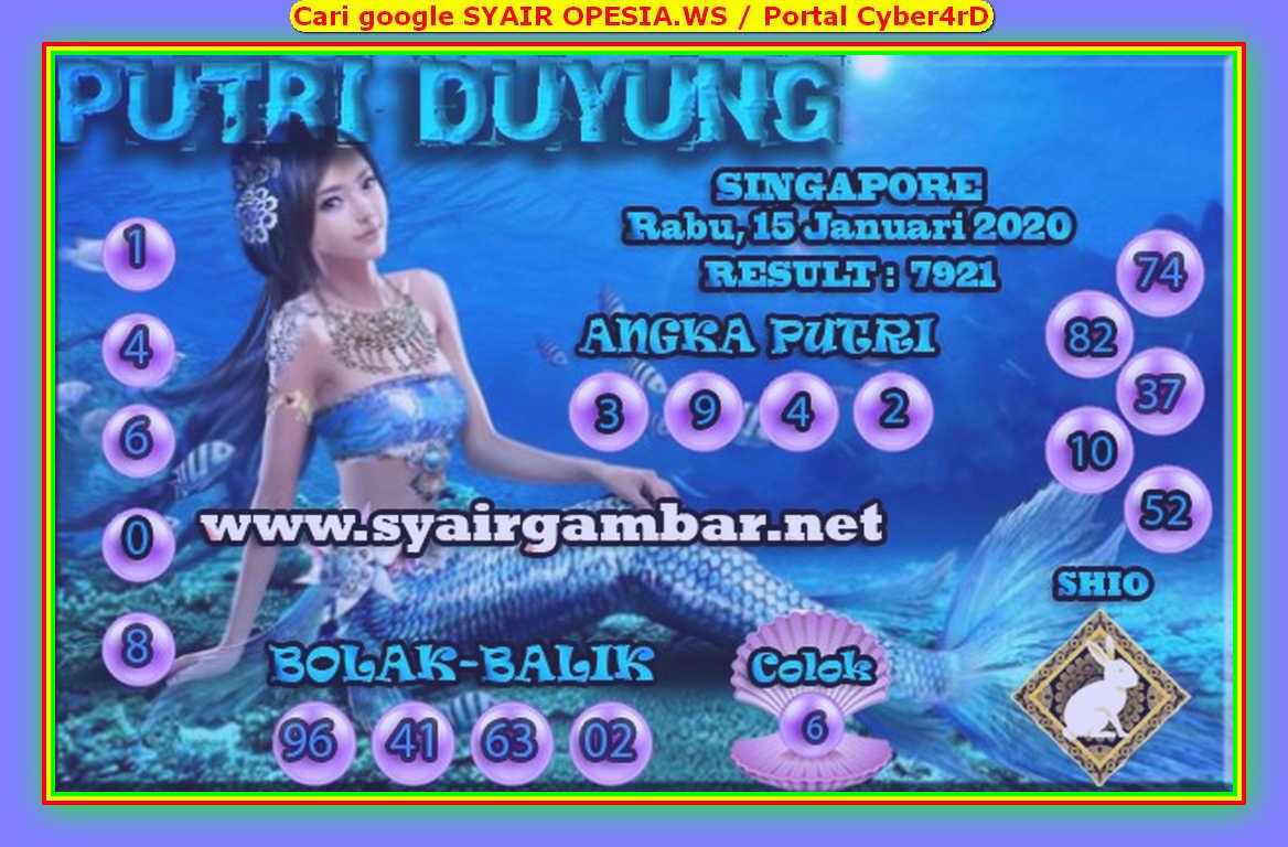 Kode syair Singapore Rabu 15 Januari 2020 66