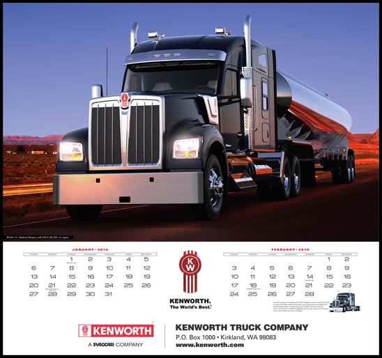 2019 Kenworth Trucks Wall Calendar