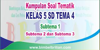 Kumpulan Soal Tematik Kelas 5 SD Tema 4 ( Subtema 1 , 2 dan 3 ) Dilengkapi Kunci Jawaban