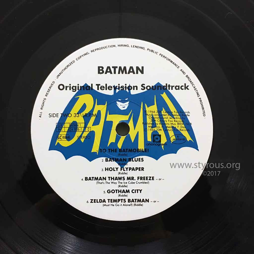 The Styrous 174 Viewfinder 20 000 Vinyl Lps 93 Batman Adam