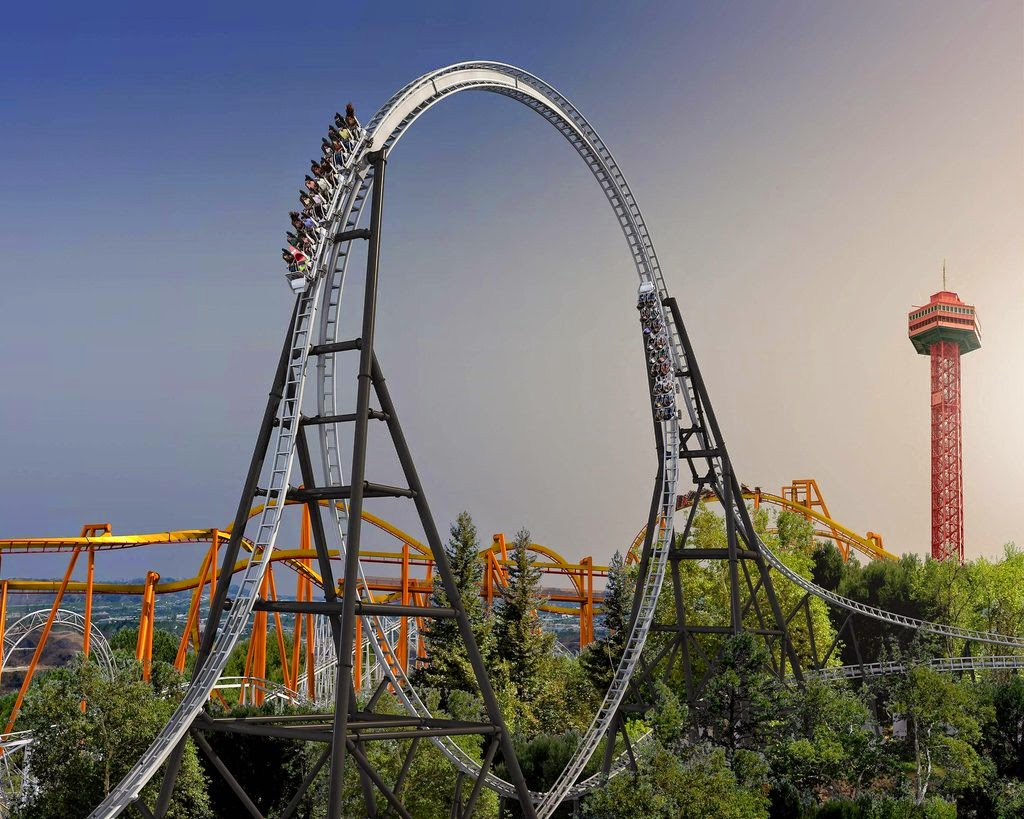 10 Amazing & Scariest Rollercoasters in the World | Full Throttle, Six Flags Magic Mountain, California, USA