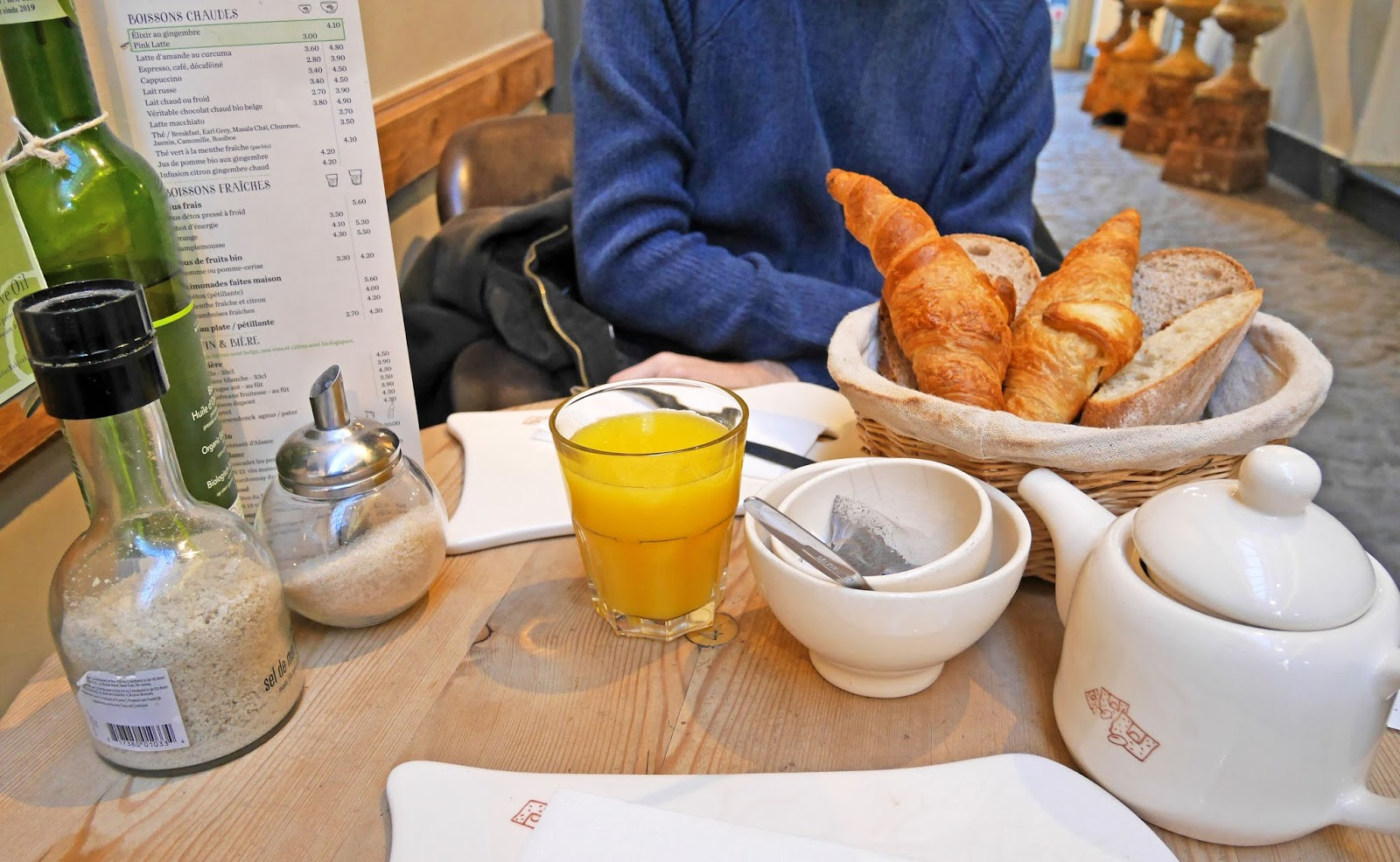 Pastries for breakfast at Le Pain Quotidien, Bruges