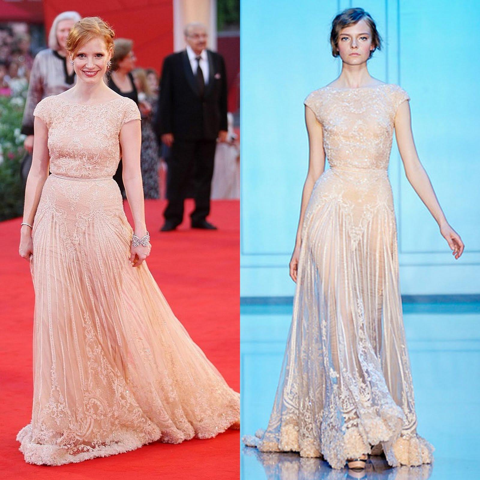 e3930f01e88b Jessica Chastain in That Elie Saab Dress | Fashion Naturally