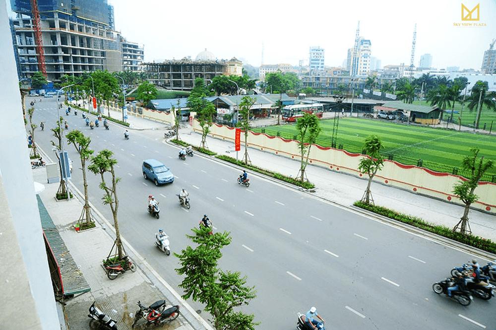 Mạng lưới giao thông đồng bộ tại Sky View Plaza