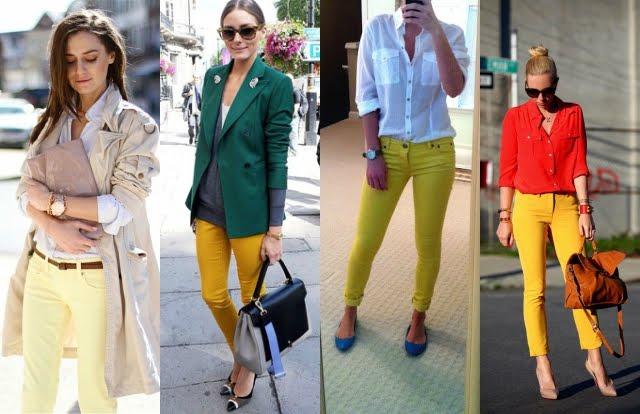 Como usar skinny amarela em looks