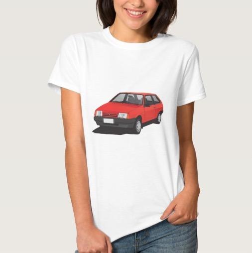VAZ-2109 Lada Samara illustration t-shirt woman