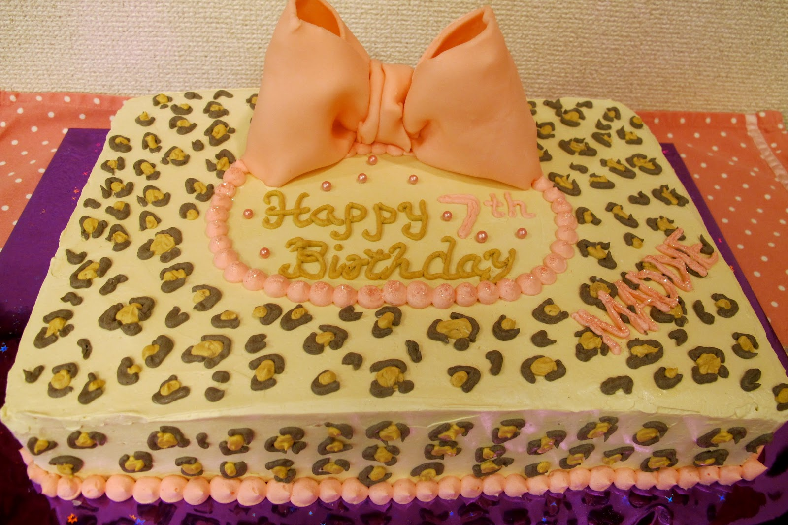 Leopard Print Cake Cookies Happy Birthday