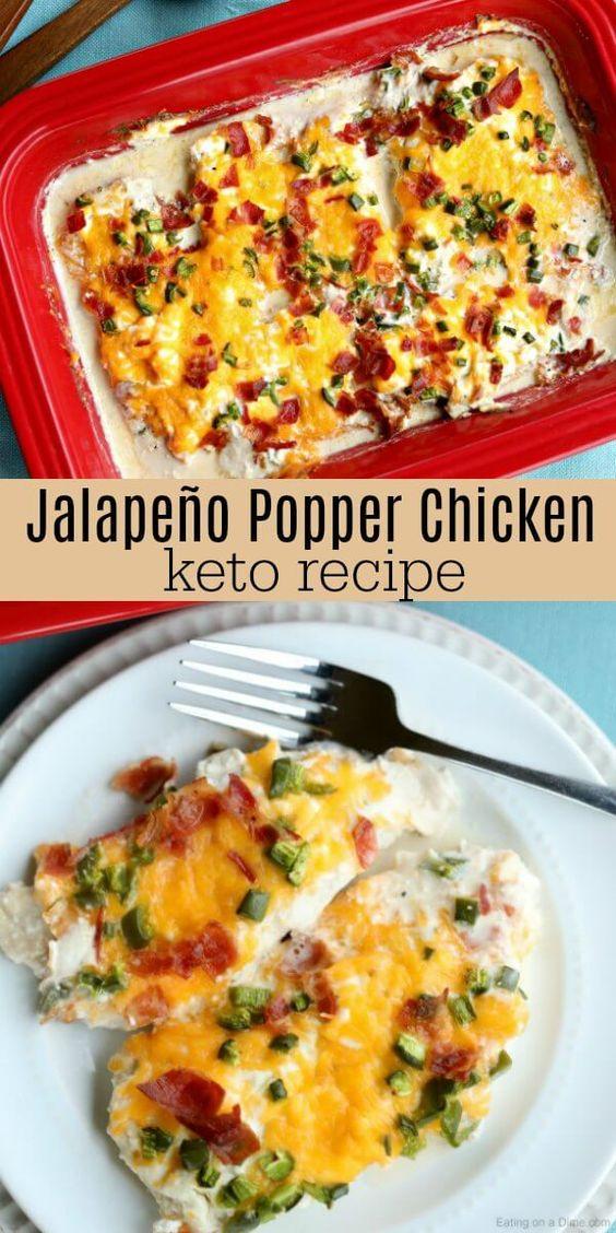 Amazing Keto Jalapeño Popper Chicken