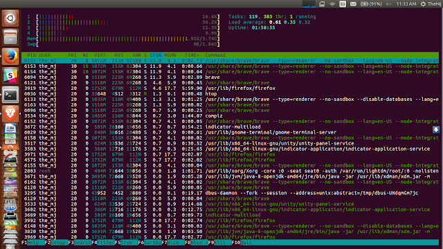 htop process manager