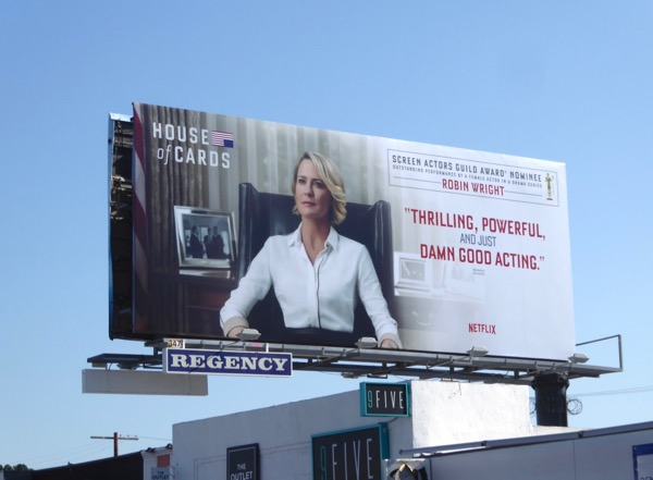 Robin Wright House of Cards 5 SAG Award billboard
