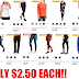 EXPIRED!!  Women's Clothing Sale: Leggings, Hoodies, 2 Pack Tanks and Many More Only $2.50 Each + Free Store Pickup at Walmart or Free Shipping With $35 Order