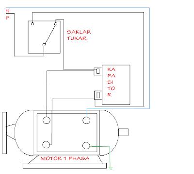 cara membalik puatan motor 1 fasa