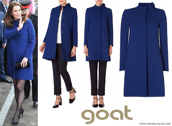 Kate Middleton wore Goat Ellory Bow Detail Coat
