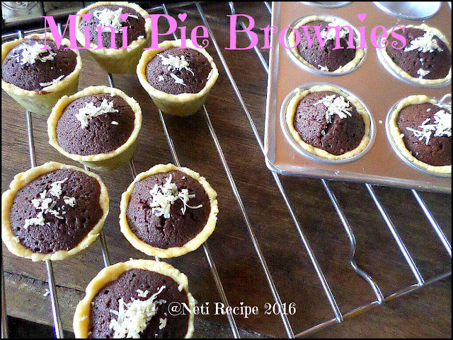 resep mini pie brownies