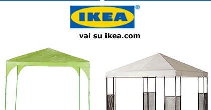 Tendaggi e tende da sole per ringhiere balconi con anelli. Risparmiello Ikea Gazebo Da Giardino Ombrelloni E Zanzariera
