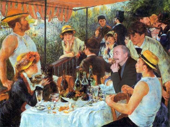 Louis CHATEL à la table des canotiers