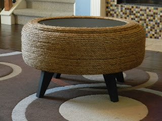 DIY Used Tire To Coffee Table | Repurposed Furniture Projects In Time For Father's Day