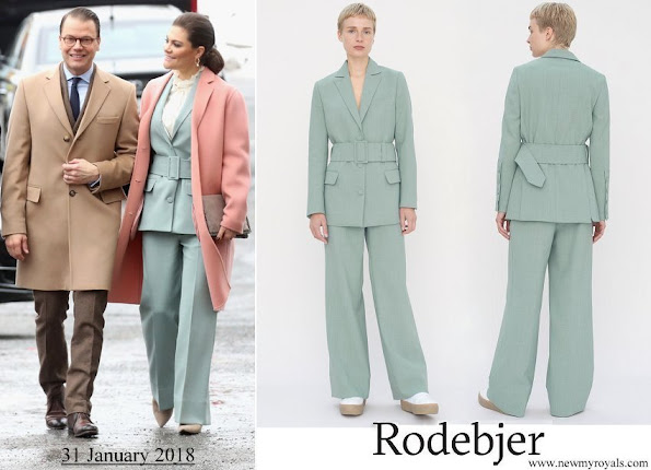 Crown Princess Victoria wore RODEBJER anitalia blazer suit