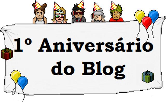 Aniversário de 1 ano do blog