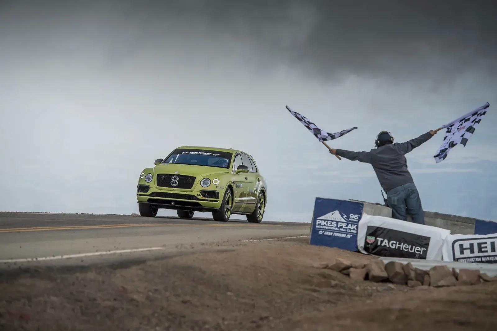 Bentley Bentayga Becomes The Fastest SUV At Pikes Peak