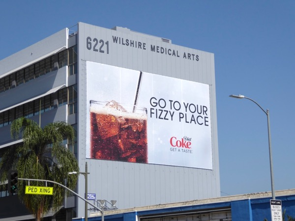 Diet Coke fizzy place billboard