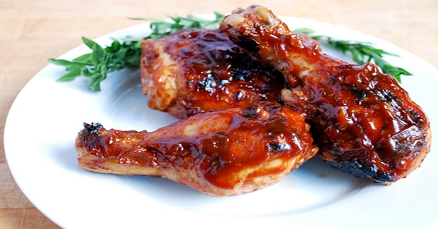 Grilled Chicken With Barbecue Sauce Recipe