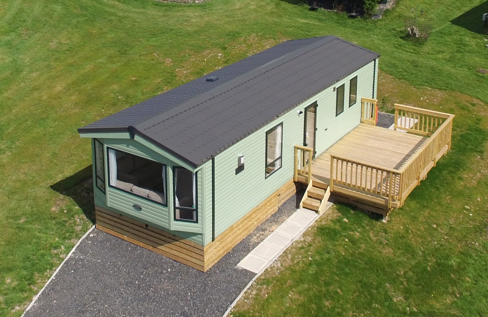 Garden carpentry timber decking design and build aerial for 6 metre lengths of decking