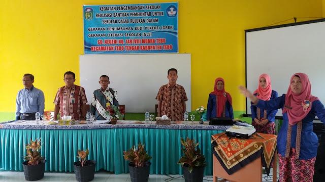 Kegiatan Desiminasi Hasil Kerja Terbaik SD Pembina/ SD Rujukan Kabupaten Tebo