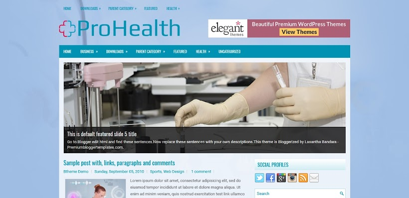 ProHealth Free Blogger Template