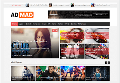 Ad Magz - Responsive Blogger Template Style Magazine