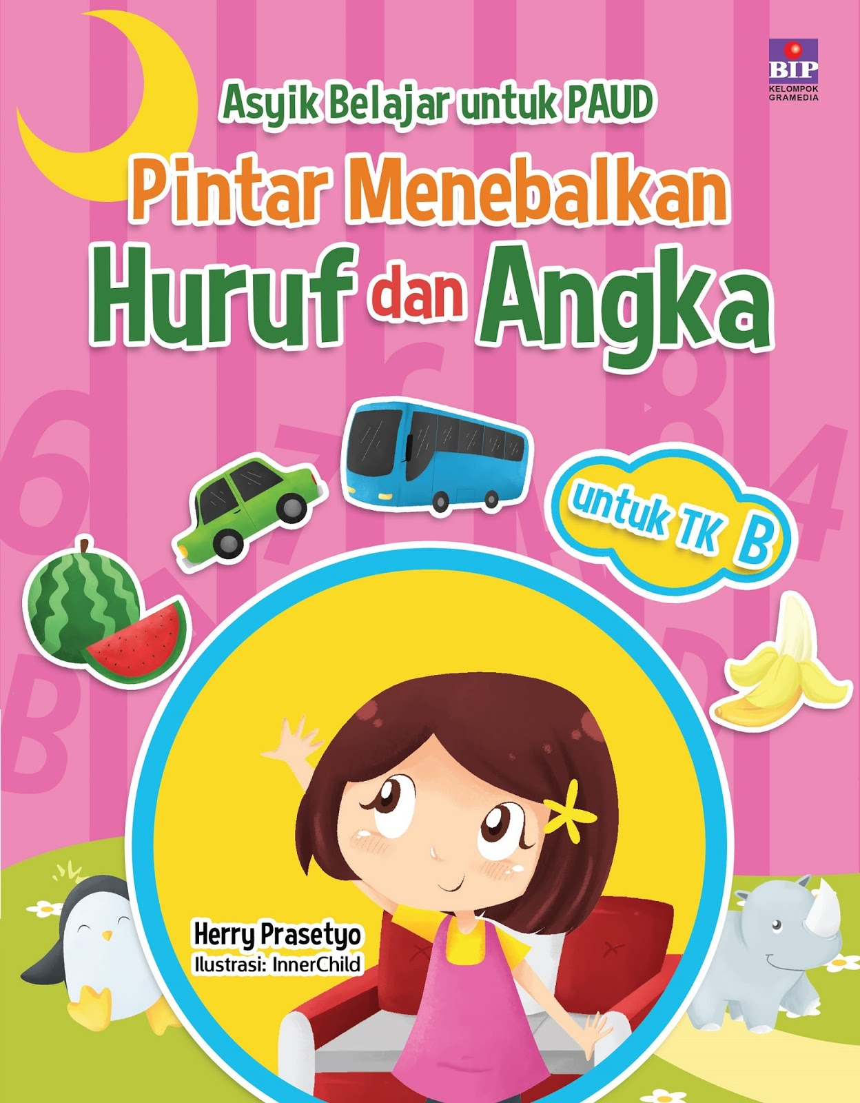 Buku yang ditujukan untuk TK B ini dimaksudkan untuk menemani anak berlatih menulis melalui menebalkan