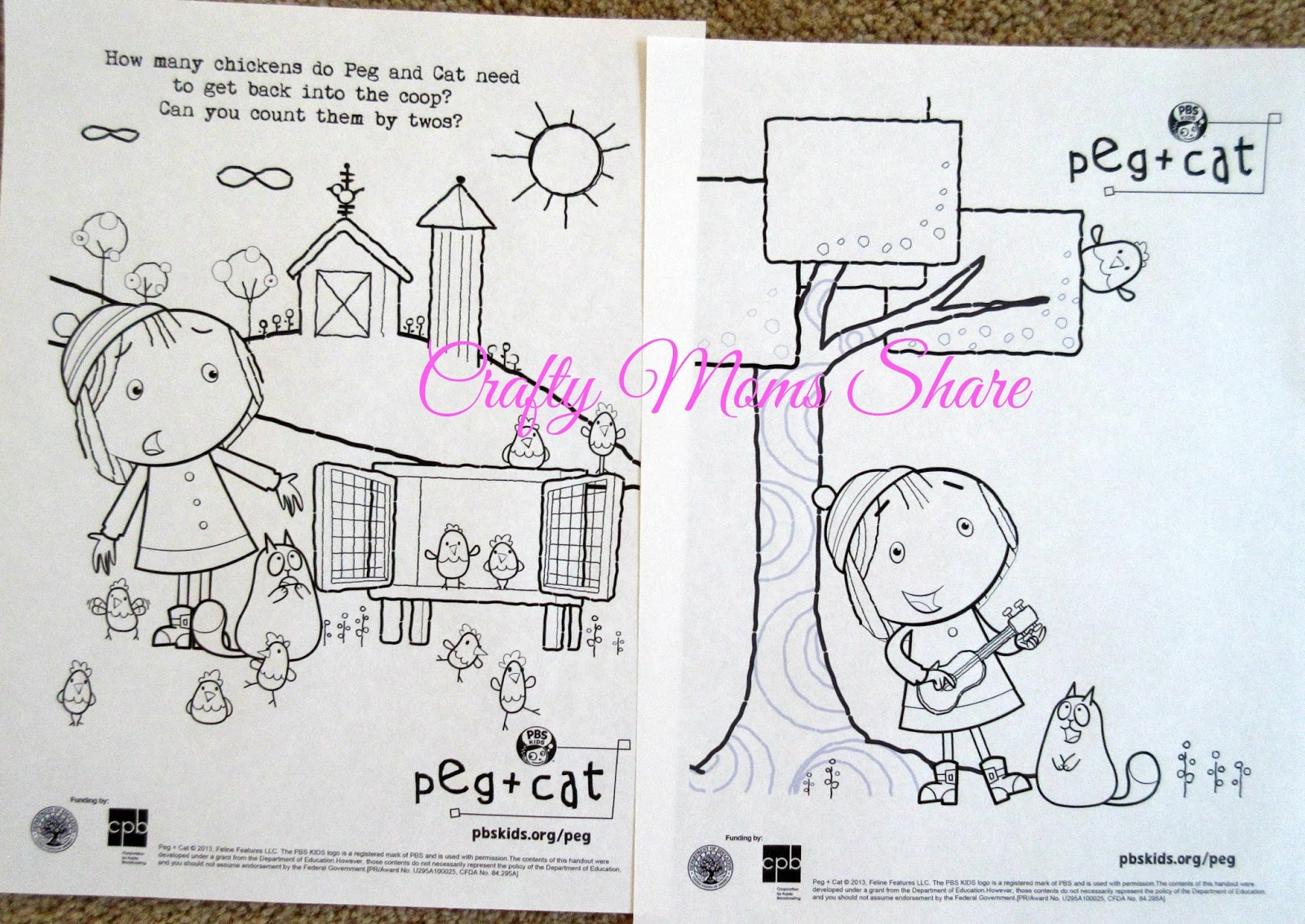 peg cat coloring pages - photo#20
