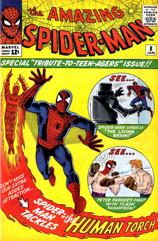 Amazing Spider-man #8 - Jack Kirby / Steve Ditko art. Ditko art & cover - Pencil Ink