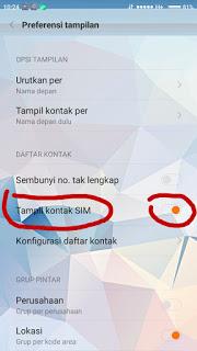 Menampilkan Kontak Simcard di HP Xiaomi