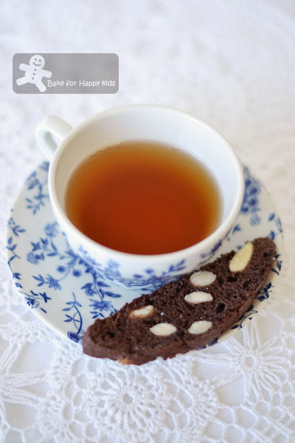 chocolate almond biscotti Donna Hay