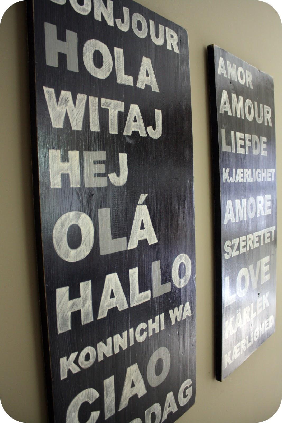 typography wall art - tutorial - Crazy Wonderful